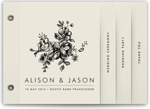Elegance Illustrated Wedding Program Minibook™ Cards