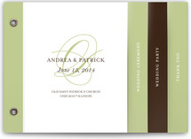 Initial Script Wedding Program Minibook™ Cards