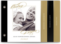 Elegant Script Wedding Program Minibook™ Cards