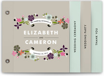 Banner and Branches Wedding Program Minibook™ Cards
