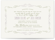 Sophisticated Soiree Rehearsal Dinner Invitations