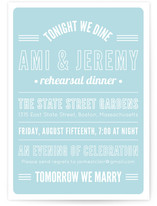Tonight We Dine Rehearsal Dinner Invitations