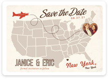 Up and Away Save the Date Magnets