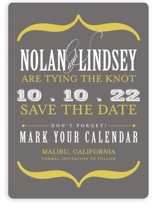 Bold Brackets Save the Date Magnets