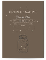 fireflies Save the Date Postcards