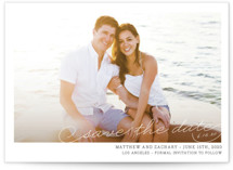 Vintage Photograph Save the Date Postcards