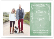 Chalkboard Save the Date Postcards