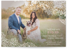 White Lace Save the Date Postcards