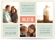Forever and Ever Amen Save the Date Postcards