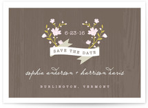 Woodland Save the Date Postcards