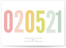 Ice Cream Parlour Pastels Save the Date Postcards