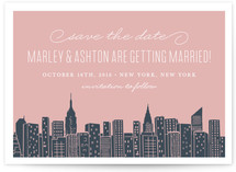 Big City New York Save the Date Postcards