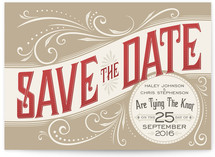 Good Ol' Fashion Love Save the Date Postcards