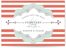 Striped Sweet Nothings Save the Date Postcards