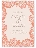 Fall Florals Save the Date Cards
