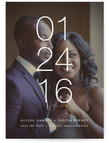 Thin Lines Save the Date Cards