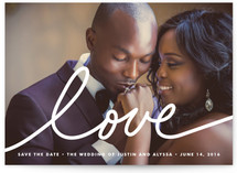 Love Large Save the Date Cards