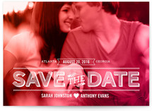 Etched Color Wash Save the Date Cards