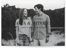 Subtle Statement Save the Date Cards