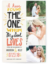 My Soul Loves Save the Date Cards