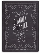 Vintage Filigree Save the Date Cards