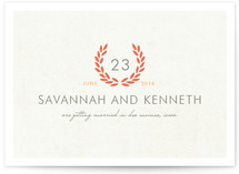 Love Wreath Save the Date Cards