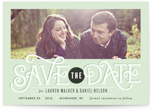 Clean Cut Typography Save the Date Cards