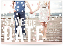 Sprinkled Save the Date Cards