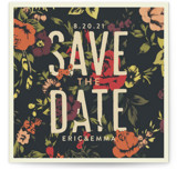 Vintage Blooms Save the Date Cards