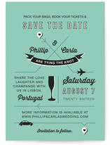 Jet Setter Save the Date Cards
