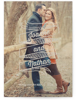Chalk Banner Save the Date Cards