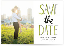 Sketched Letters Save the Date Cards