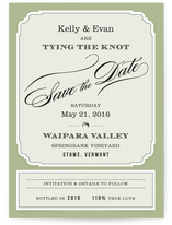 Posh Wine Label Save the Date Cards