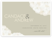 Modern Tulle Save the Date Cards