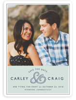 Rope Ampersand Save the Date Cards
