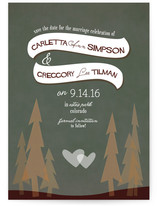 In the Woods Save the Date Cards