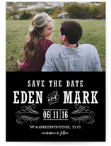 Antique Chalkboard Save the Date Cards