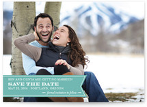 Ribbon Banner Save the Date Cards