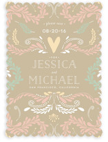 Beautiful Embellishment Save the Date Cards