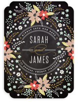 Chalkboard Floral Save the Date Cards