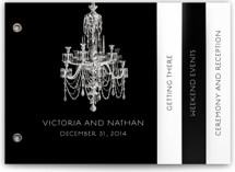 Chandelier Wedding Announcement Minibook™ Cards