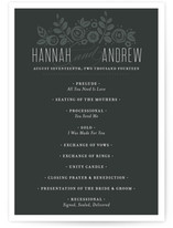 White Shadows Wedding Programs