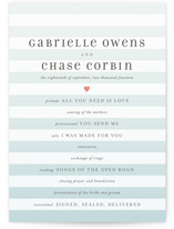 Ombre Stripes Wedding Programs