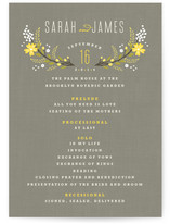 Botanical Blooms Wedding Programs