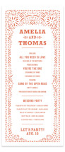 Fiesta Folk Art Wedding Programs