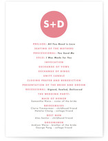 Mod Monogram Wedding Programs