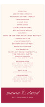 Modern Elegance Wedding Programs
