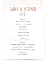 Arrowhead Pastels Wedding Programs