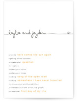 The Happy Couple Wedding Programs