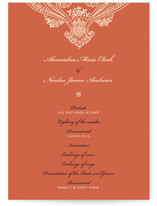 Spanish Lace Wedding Programs